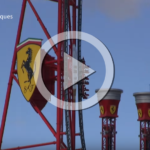 VÍDEO | Primers tests amb persones a l'accelerador vertical 'Red Force' de Ferrari Land