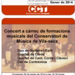 El Conservatori de Música de Vila-seca ofereix un concert aquest diumenge a Vilallonga del Camp