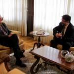 Josep Poblet rep la visita del president del Consell de Tarragona de PIMEC Comerç