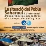 Els intercanvis educatius als camps de refugiats del Sàhara, a debat a la Canonja