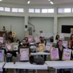 Els alumnes d'il·lustració de la Diputació apadrinen artísticament nens de Roda de Berà