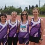 Les veteranes del Club d'Atletisme Tarragona baten de nou el Rècord de Catalunya en la prova 4×100