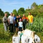 El Catllar retira 200 quilos de brossa del riu Gaià