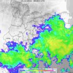 Dilluns de núvols i pluges a Tarragona