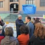 El president dels comerços de l'entorn del Mercat valora positivament la presència de Ballesteros a les obres