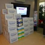 Messer col·labora amb més de 800 kg de menjar pel Banc d'Aliments