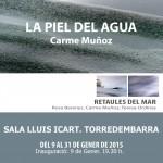 Carme Muñoz exposa 'La piel del agua, a Torredembarra