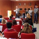 Els alumnes de l'Escola Salvador Espriu visiten l'Ajuntament de Roda