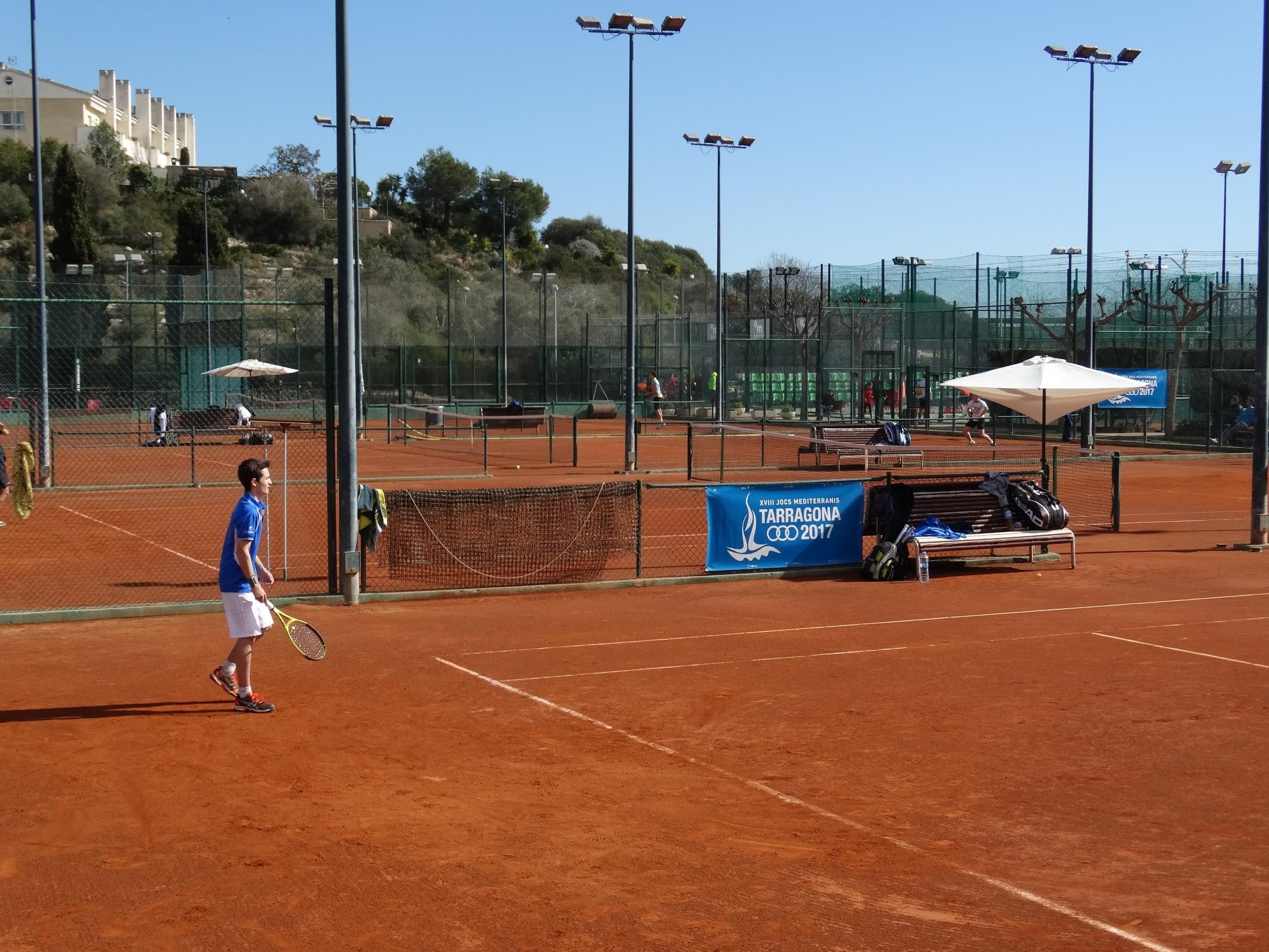 Imatge d'arxiu d'un partit al Club Tennis Tarragona.