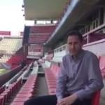 Vicente Moreno dóna les gràcies a l'afició del Nàstic