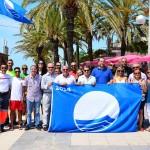 Les platges Llarga i Costa Daurada de Roda de Berà ja llueixen la Bandera Blava