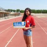 Any rodó de la jove atleta del Nàstic Irene Méndez
