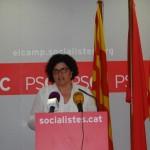 Rosa Maria Ibarra presenta la seva candidatura per encapçalar la llista socialista del 27S