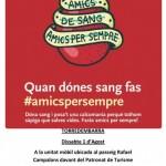 Nova campanya de donació de sang el pròxim 1 d'agost
