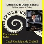 Creixell presenta un prodigi de pianista, Antonio Bernaldo de Quirós