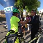 JAMA, el ciclista solidari dels Pallaresos, torna a casa després d'haver recorregut 1.888 quilòmetres