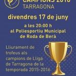 Roda de Berà acollirà la Nit dels Campions de la Federació Catalana de Futbol