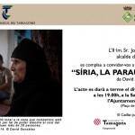 L'exposició 'Síria, la paraula de l'Exili' arriba el 15 de juliol al Catllar