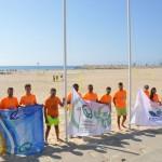 La Paella i Barri Marítim renoven la bandera Ecoplayas