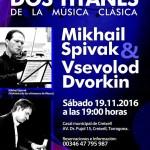 Creixell Clàssic ofereix dissabte un concert a piano i violí de Dvorkin i Spivak