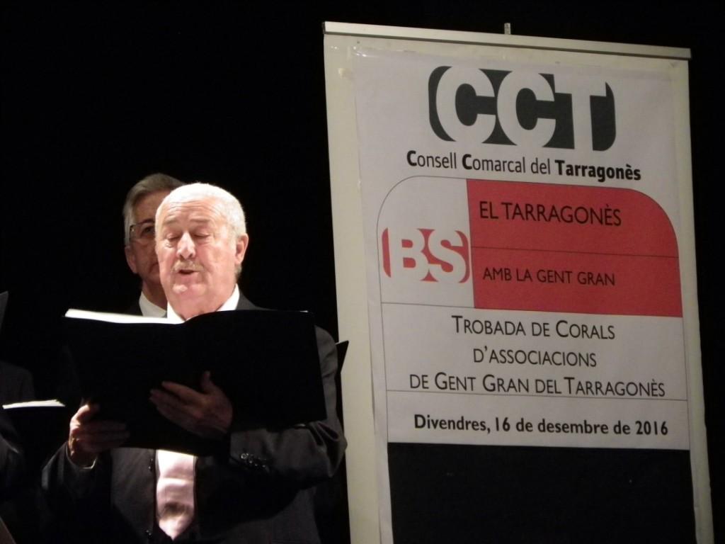Un intengrant de la Coral Asociación de Jubilados la Granja. Foto: Romà Rofes / Tarragona21.cat