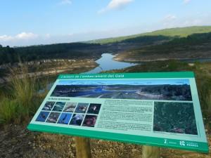 Imatges de l'embassament de Repsol al Catllar, al riu Gaià, i de l'espai natural de l'entorn. Foto: Romà Rofes / Tarragona21.cat