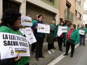 'Aigua per l'Anabel' era una de les consignes que s'han cridat. Foto: Romà Rofes / Tarragona21.cat