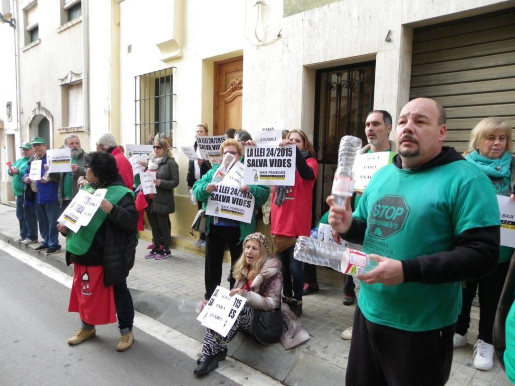 La protesta s'ha fet davant de l'edifici del consistori. Foto: Romà Rofes / Tarragona21.cat