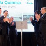 La Pobla obre l'Avinguda de la Química amb la presència del president de Repsol