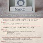 """Les xerrades """"Dones (Extra) ordinàries"""" centren els actes del Dia Internacional de les Dones a Mont-roig"""