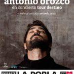 Antonio Orozco actuarà aquest estiu a La Pobla