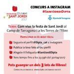 Sant Jordi 2017 al Camp de Tarragona i les Terres de l'Ebre, protagonista del concurs a Instagram que organitza la Diputació