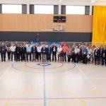 Representants internacionals dels països participants als Jocs Mediterranis visiten el Pavelló de Vila-seca
