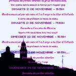 Jornades de portes obertes a l'Escola de Música per celebrar Santa Cecília
