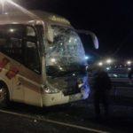 Set ferits de poca gravetat en l'accident d'un autocar de Riudecanyes que tornava de la manifestació