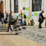 Encartellada a Tarragona per demanar la llibertat dels presos