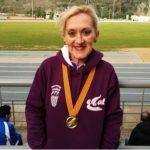 Antonia Royo, directora de l'Escola Les Eres de Creixell, campiona de Catalunya dels 10.000 metres