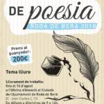 L'Ajuntament de Roda convoca el primer concurs de poesia de Festa Major