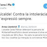 Quim Torra dona les «gràcies» a Pellicer per defensar «la llibertat d'expressió»