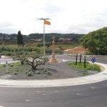 La Diputació enllesteix la construcció de la rotonda a la intersecció d'accés a la Riera de Gaià