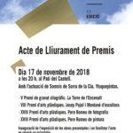 El 17 de novembre es lliuren els XX Premis Cultura Vila de Torredembarra