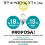 L'Ajuntament de Vandellòs i l'Hospitalet de l'Infant posa en marxa els Pressupostos Participatius 2019