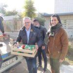 Càritas i Eluzai reben més de 800kg d'aliments del Dia Solidari del parc infantil de Nadal