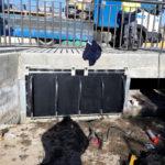L'Empresa Mixta d'Aigües d'Altafulla instal·la dues comportes al canal de la Rasa per evitar l'entrada d'aigua de mar quan hi ha llevantades