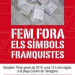 Nova retirada popular de plaques franquistes a Tarragona