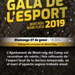 L'Ajuntament de Mont-roig del Camp organitza la II Gala de l'Esport