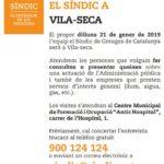 Atenció personalitzada del Síndic de Greuges a Vila-seca