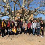 Un grup de guies turístics oficials visita els orígens de Gaudí a Riudoms