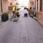 Comencen les obres de reparació del paviment del carrer Sant Plàcid de Cambrils