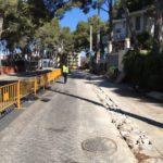 Salou inicia les obres de creació d'un tram de vorera a la carretera de la Costa